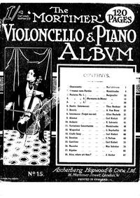 Chansonette : Piano Score and Cello Part by Johnson, William Noel