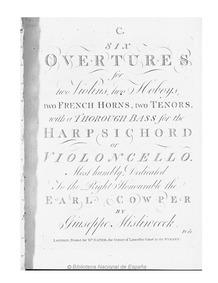 6 Symphonies, Nos.26-31 (Six Overtures f... by Mysliveček, Josef