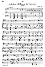 Lied eines Schiffers an die Dioskuren, D... Volume D.360 (Op.65 No.1) by Schubert, Franz