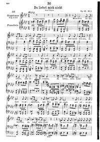 Du liebst mich nicht, D.756 (Op.59 No.1)... Volume D.756 (Op.59 No.1) by Schubert, Franz