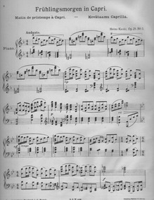 Piano Pieces, Op.25 : 3. Kevätaamu Capri... Volume Op.25 by Kaski, Heino
