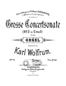 Grosse concertsonate No.2, Op.12 : Compl... Volume Op.12 by Wolfrum, Karl