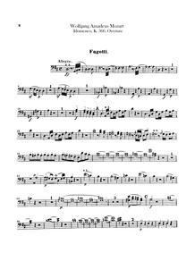 Idomeneo (Idomeneo, rè di Creta) : Basso... Volume K.366 by Mozart, Wolfgang Amadeus