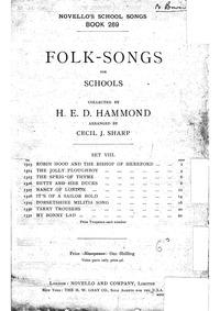Folk Songs for Schools : Set VIII: Dorse... by Folk Songs, English
