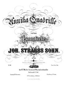 Annika-Quadrille, Op.53 : Complete Score... Volume Op.53 by Strauss Jr., Johann