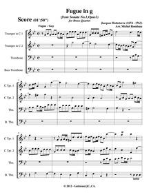 Sonates en trio, livre I, Op.3 : 2. Fugu... Volume Op.3 by Hotteterre, Jacques