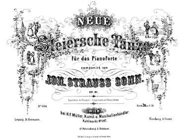 Neue Steirische Tänze, Op.61 : Complete ... Volume Op.61 by Strauss Jr., Johann