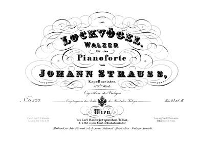 Lockvögel Walzer, Op.118 : Complete Scor... Volume Op.118 by Strauss Jr., Johann