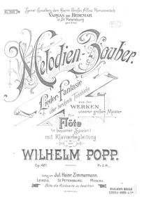 Melodien-Zauber (Lieder-Fantasie für Flö... Volume Op.461 by Popp, Wilhelm