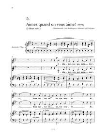 Aimez quand on vous aime! : Complete Sco... by Tosti, Francesco Paolo