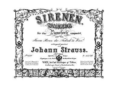Sirenen Walzer, Op.164 : Complete Score ... Volume Op.164 by Strauss Jr., Johann