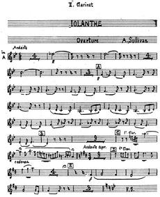 Iolanthe (The Peer and the Peri) : Clari... by Sullivan, Arthur