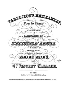 L'elisir d'amore (Variations brillantes ... by Wallace, William Vincent
