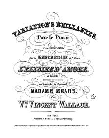 L'elisir d'amore (Variations brillantes ... by Wallace, William Vincent