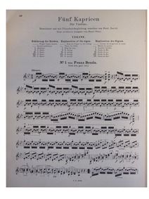 Capricen : Complete Score, Violin part by David, Ferdinand