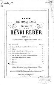 Suite de morceaux (Suite de morceaux pou... Volume Op.31 by Reber, Napoléon Henri