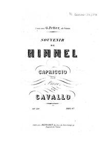 Souvenir de Himmel (Capriccio pour piano... Volume Op.20 by Cavallo, Peter