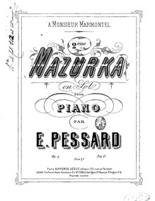 Mazurka No.2, Op.7 : Complete Score Volume Op.7 by Pessard, Émile