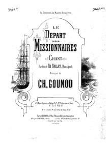 À la reine des apôtres (Le départ des mi... by Gounod, Charles