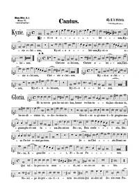 Missa Quarti toni : Cantus (monochrome) by Victoria, Tomás Luis de