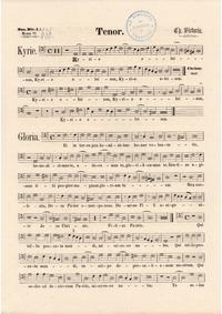 Missa Quarti toni : Tenor (color scan) by Victoria, Tomás Luis de