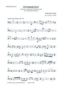 Intermezzo : Violoncello 1 Volume Opus 5 by Peters-Rey, Gregor