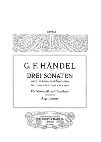 Concerto Grosso in D minor, HWV 316 : Ce... Volume HWV 316 ; Op.3 No.5 by Handel, George Frideric