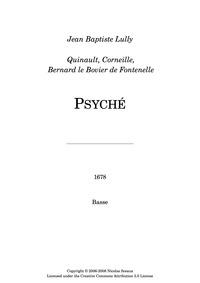 Psyché, LWV 56 (Psiché) : Basses by Lully, Jean-Baptiste