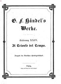 Il trionfo del Tempo e della Verità (The... by Handel, George Frideric
