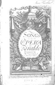 Rinaldo, HWV 7a : Songs in the Opera of ... Volume HWV 7a by Handel, George Frideric