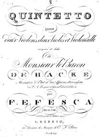 String Quintet, Op.8 : Complete Parts Volume Op.8 by Fesca, Friedrich Ernst