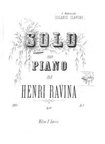 Solo (Morceau de concours. Exam piece.) ... Volume Op.15 by Ravina, Jean Henri