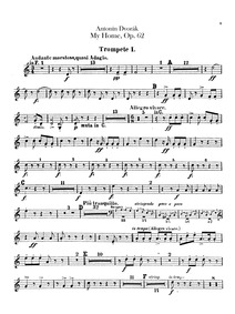 My Homeland (Domov můj) : Trumpet 1, 2 (... Volume Op.62 ; B.125a by Dvořák, Antonín