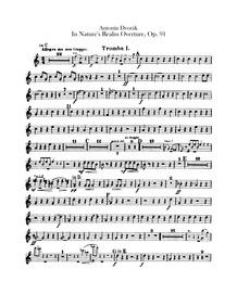 In Nature's Realm (V přírodě) : Trumpet ... Volume Op.91 ; B.168 by Dvořák, Antonín