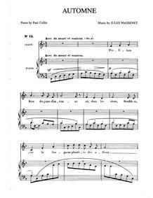 Poème d'octobre : Complete Score (F Majo... by Massenet, Jules