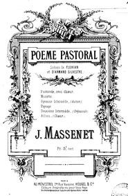 Poème pastoral : Complete Score by Massenet, Jules