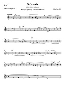 Ô Canada (O Canada) : Clarinet 2, Trumpe... by Lavallée, Calixa