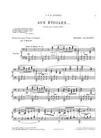 Aux étoiles (Poème nocturne) : Complete ... by Duparc, Henri