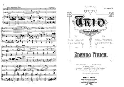 Piano Trio in F minor (Trio in F moll) :... by Fibich, Zdeněk