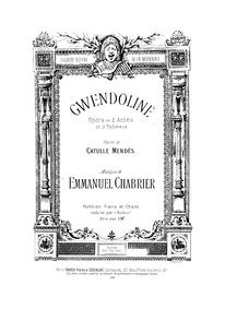 Gwendoline (Opéra en deux actes et trois... by Chabrier, Emmanuel