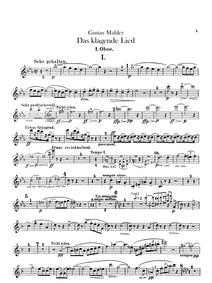 Das Klagende Lied : Oboe 1, 2, 3 (double... by Mahler, Gustav