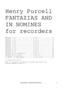 Fantasias and In Nomines, Z.732-747 : Co... Volume Z.732–747 by Purcell, Henry