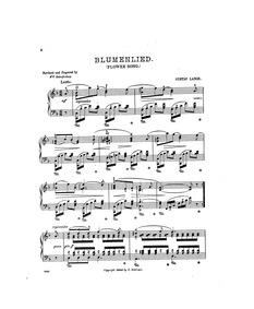 Blumenlied (Melodie) : Complete Score Volume Op.39 by Lange, Gustav
