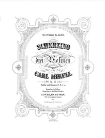 Scherzino for 3 Violins, Op.25 : Score Volume Op.25 by Mikuli, Carl
