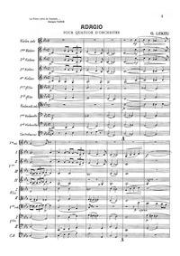 Adagio pour quatuor d'orchestre (Adagio ... by Lekeu, Guillaume
