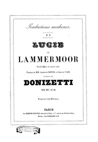 Lucia di Lammermoor (The Bride of Lammer... by Donizetti, Gaetano