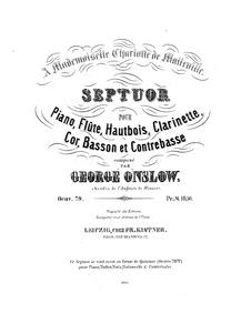 Septet, Op.79a : Complete Parts Volume Op.79a by Onslow, Georges