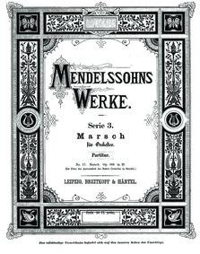 Marsch für Orchester, Op.108 (Marche for... Volume Op.108 by Mendelssohn, Felix