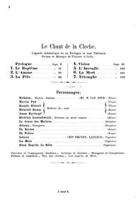 Le chant de la cloche, Op.18 : Complete ... Volume Op. 18 by Indy, Vincent d'