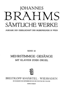 Psalm 13 (Der 13.Psalm (Herr, wie lange ... Volume Op.27 by Brahms, Johannes